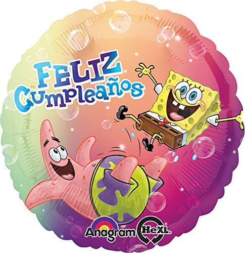 Anagram International HX Sponge Feliz Cumpleanos Packaged Party Balloons, Multicolor - 1