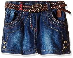 Little Kangaroos Girls' Skirt (Pack of 2) (11569_Dark Blue_5 year)