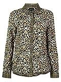 Jones New York Women's Leopard Print Patterned Front Buttoned Top