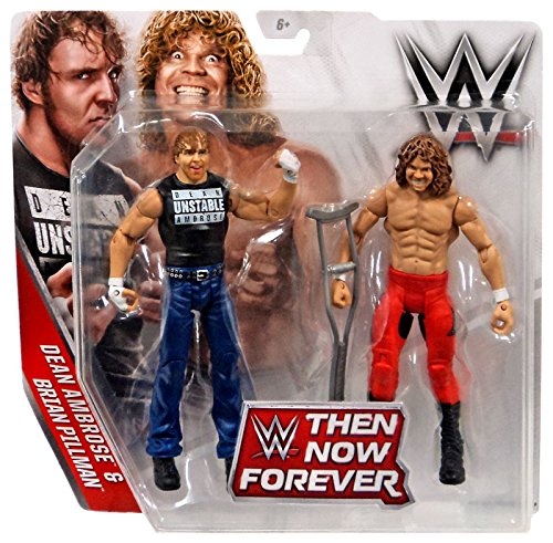 WWE, Basic Series, 2016 Then Now Forever, Dean Ambrose and Brian Pillman Action Figures (Brian Figure compare prices)