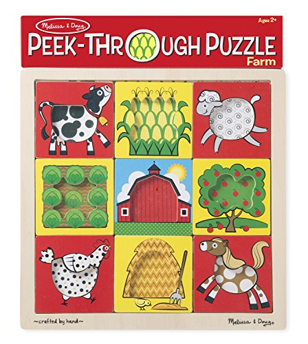 Melissa & Doug Peek-Through Puzzle - Farm