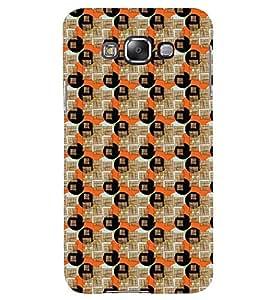 Printvisa Circular Pattern Brown And Orange Back Case Cover for Samsung Galaxy A8::Samsung Galaxy A8 A800F