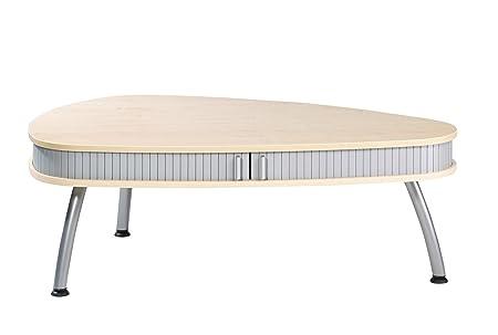 Simmob COGNAC616EU Maple Melamine/Wood Panel Oval Coffee Table 83x 125x 44cm