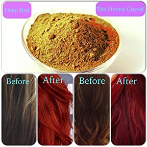 .com : DEEP RED Henna Hair & Beard Dye / Color - 1 Pack - The Henna