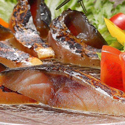 鯖の冷燻 金撰 半身1枚約130g ●農林水産大臣賞受賞 表面は香ばしく、中はしっとりジューシー生ハム食感な鯖の燻製