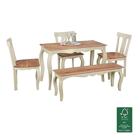 Wohnling WL1.801 Esszimmertisch, Holz, weiß, 120 x 60 x 76 cm