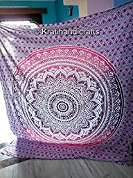 Hippie Tapestry, Hippy Mandala Bohemian Tapestries, Indian Dorm Decor, Psychedelic Tapestry Wall Hanging Ethnic Decorative 7
