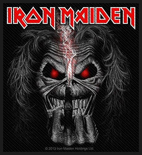 Iron Maiden Eddie Candle Finger Album Cover Iron Sew On Patch Badge Fan Official