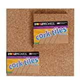 Dooley Boards Light Cork Tiles , 12 x 12 Inches (1212COTL-4)