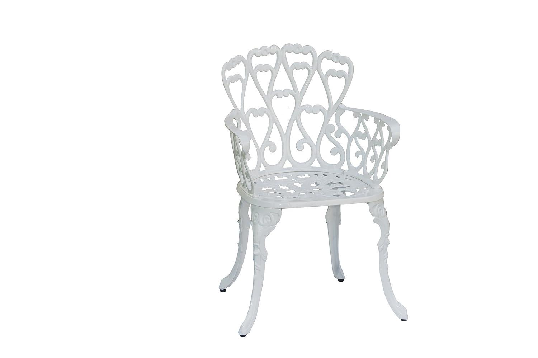 InkO Gartenmöbel Aluguss Bistro Sessel Eden Weiß günstig