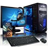 "VIBOX Vision Package 2 - 3.9GHz Dual Core, Home, Office, Family, Desktop Gaming PC, Computer Full Package with WarThunder Game Bundle, 22"" Monitor, Gamer Headset, Keyboard & Mouse Set PLUS a Lifetime Warranty Included* (3.7GHz AMD A4 6300 (3.9GHz Turbo) Dual Core APU Processor, Radeon 8370D Graphics Chip, 1TB HDD Hard Drive, 8GB 1600MHz RAM, No Operating System)"