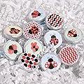 Set of 324 Ladybug Birthday Party Favor, Ladybug Party Supplies, Ladybug Round Candy Labels