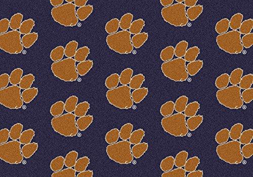 Clemson Tigers NCAA Milliken Team Repeat Area Rug (10'9