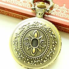 buy Antique Brass Fashion Jewelry Pocket Watch With Common Nightblooming Cereus Pattern