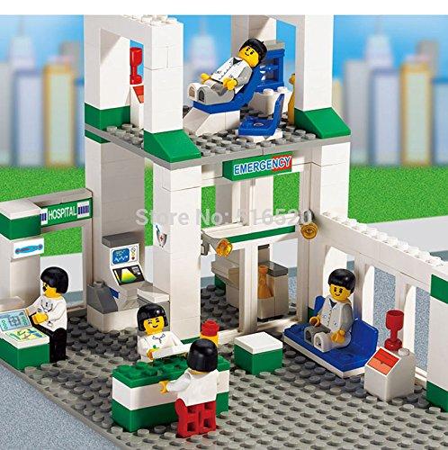Superb good City Scene Hospitals Emergency Center Minifigures Building Blocks Educational Assembled Sets Model Figure Toys For Children 376pcs.
