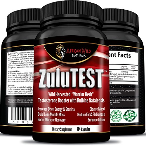 ZuluTEST-Best-All-Natural-Warrior-Herbal-Testosterone-Booster-Supplement-for-Men-Bulbine-Natalensis-Inhibits-Estrogen-More-Energy-Stamina-Mood-Muscle-Growth-Libido-Fat-Loss-6-9-Week-Supply
