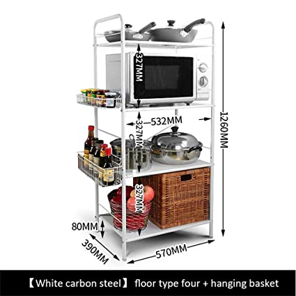 Haushaltsgegenstände Mikrowellenherd Regal 304 Edelstahl Kuche Boden Storage Rack2 Schicht 3 Layer Ofen Rack -CRS-ZBBZ ( Farbe : #9 )