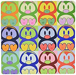 3dRose LLC 8 x 8 x 0.25 Inches Mouse Pad, Cartoon Penguin Pop Art (mp_8061_1)