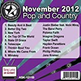All Star Karaoke November 2012 Pop and Country Hits B (ASK-1211B)