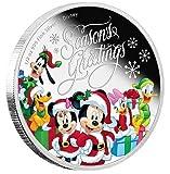ディズニーミッキークリスマス銀貨2016ニウエ