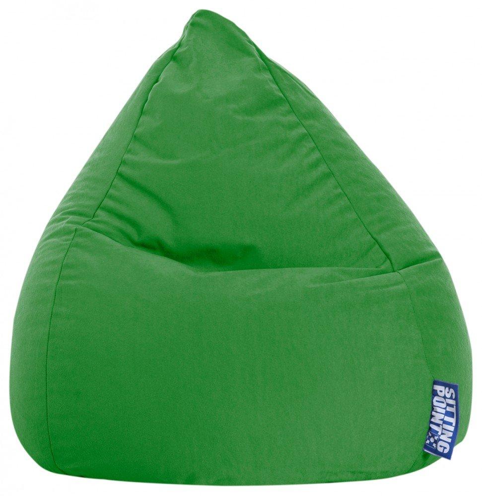 Puf de grandes dimensiones color azul verde
