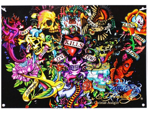 Ed Hardy Collage 7' X 5' Polyester Wall Banner front-407174