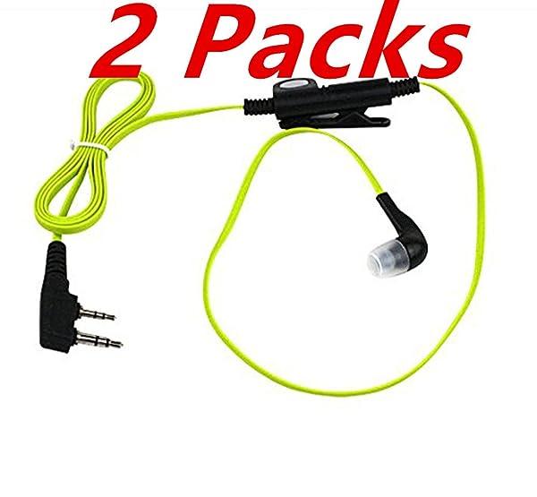 2 Pack 2 PIN Earpiece Cyan for Kenwood TK-272 Puxing PX777 Wouxun KG-699E Baofeng UV-5R Quansheng Puxing Wouxun Two Way Radio