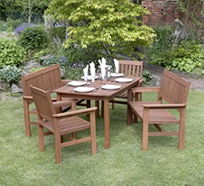 Kingfisher Tropicana 5 Piece Garden Furniture Set
