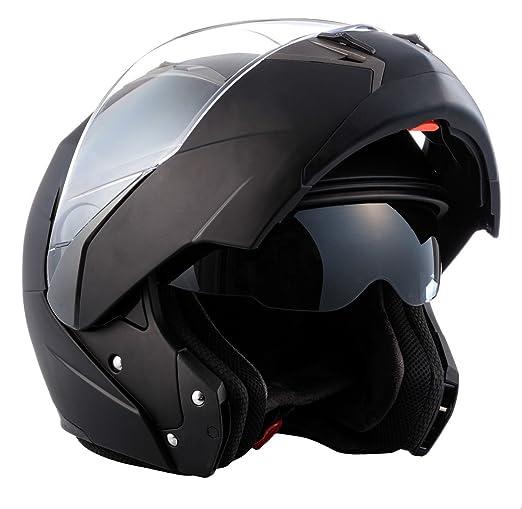 SOXON SF-99 noir Integral moto relevez casque helmet quad scooter Taille: XS S M L XL