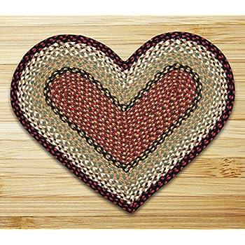 "Earth Rugs 10-019 Hc-019 Heart Shaped Rug, 20 by 30"", Burgundy/Mustard"