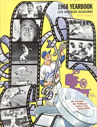 1968 Los Angeles Dodgers Yearbook