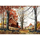 the countryside counted cross stitch kits 350x262 stitch73x59cm counted cross stitch kits,DIY embroidery kits (Color: Multicolor)