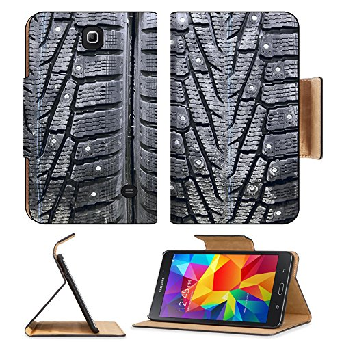 MSD Premium Samsung Galaxy Tab 4 7.0 Tablet Flip Pu Leather Case Stack of car tires on warehouse closeup IMAGE 19680954 by MSD Customized Premium (Tire Stack Covers compare prices)