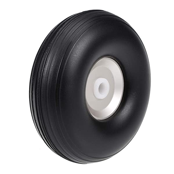 uxcell Tire and Wheel Sets for RC Car Airplane,PU Sponge Tire with Aluminum Alloy Hub,2 inches (Tamaño: 2 Aluminum Hub)