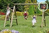 Gartenpirat Schaukelgestell Premium 2.2 Doppel-Schaukel aus Kreuz-Holz mit Leiter
