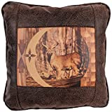Big House Home Collection Deer in The Woods Home Accent Pillows, 16 by 16-Inch
