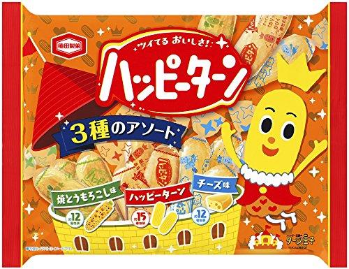 亀田製菓 ハッピーターン3種のアソート 154g