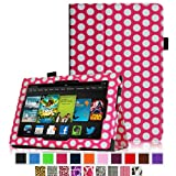 Fintie Amazon All New Kindle Fire HD 7 inch Slim Fit Folio Case with Auto Sleep / Wake Feature (will only fit All New Kindle Fire HD 7 2013 Model) - Polka Dot