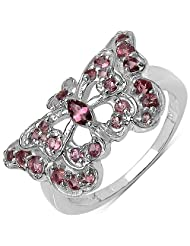 0.59CTW Genuine Pink Tourmaline .925 Sterling Silver Butterfly Shape Ring
