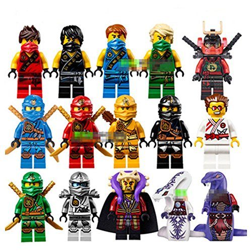 15 pcs/set Ninja Minifigures Brick set Building Blocks Action Figures Classic Toys