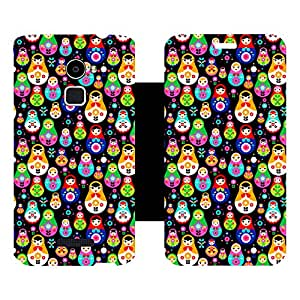 Skintice Designer Flip Cover with Vinyl wrap-around for Coolpad Note 3 Lite, Design - Chinese doll pattern