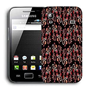 Snoogg Red Abstract Black Pattern Printed Protective Phone Back Case Cover For Samsung Galaxy ACE S5830