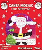 MAKE YOUR OWN SANTA MOSIAC XMAS CHRISTMAS SANTA MOSAIC GLITTER KIT ART CRAFT KIDS CHILDRENS STOCKING FILLER