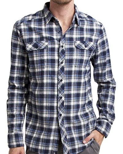 Micros Men's Bluffdale Long Sleeve Flannel Plaid Shirt with Flap Pocket