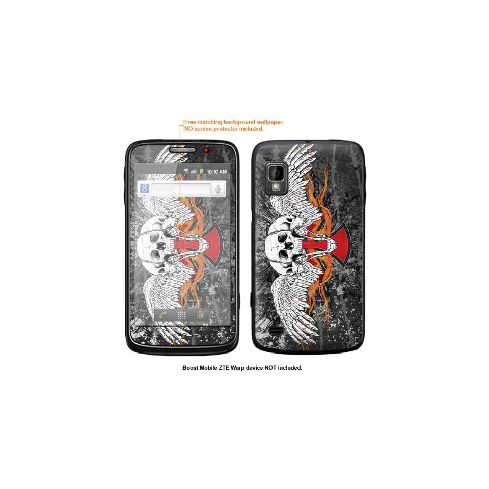 Protective Decal Skin Sticker for ZTE Warp  Boost Mobile version  case cover ZTEwarp 434