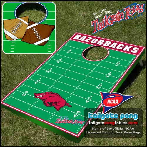 Arkansas UA Razorbacks College Tailgate Toss Cornhole Game - FREE SHIPPING