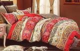 WRAP 100% COTTON DOUBLE BED DUVET SET (1 BEDSHEET 2 PILLOW COVERS & 1 DUVET COVER) CNSD-11