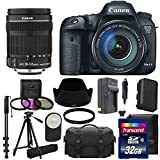 Canon EOS 7D Mark II 20.2MP Digital SLR Camera Full HD 1080p 60 Video with 18-135mm IS STM Lens Lens Kit UV Filter Kit With Extra Battery & Charger + Case +Tripod + Monopod with 32GB Complete Deluxe Accessory Bundle And Much More!