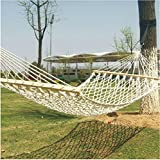 Best choice Lightreach deluxe Cotton Rope single Hammock-white