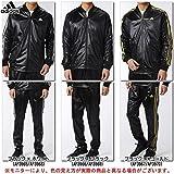 adidas(アディダス) ESS 3S コーティング ジャケット パンツ 上下セット 【メンズ】 (BIM52/BIM59) (S, ブラック×ブラック(AP3966/69))
